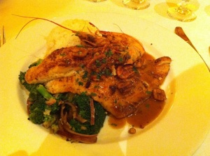 The beautiful presentation of the catfish at The Bourbon House (New Orleans)