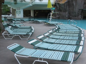 Pool chairs, Tropicana Hotel, Las Vegas 2007